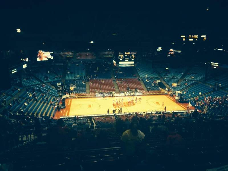 Seating view for University Of Dayton Arena Section 412 Row G Seat 10