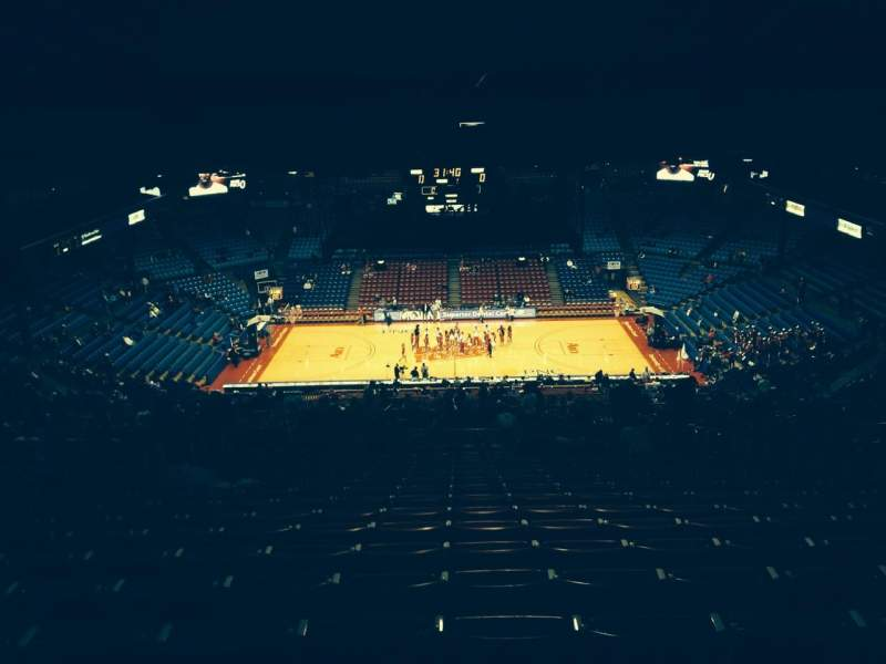 Seating view for University Of Dayton Arena Section 411 Row Q Seat 8