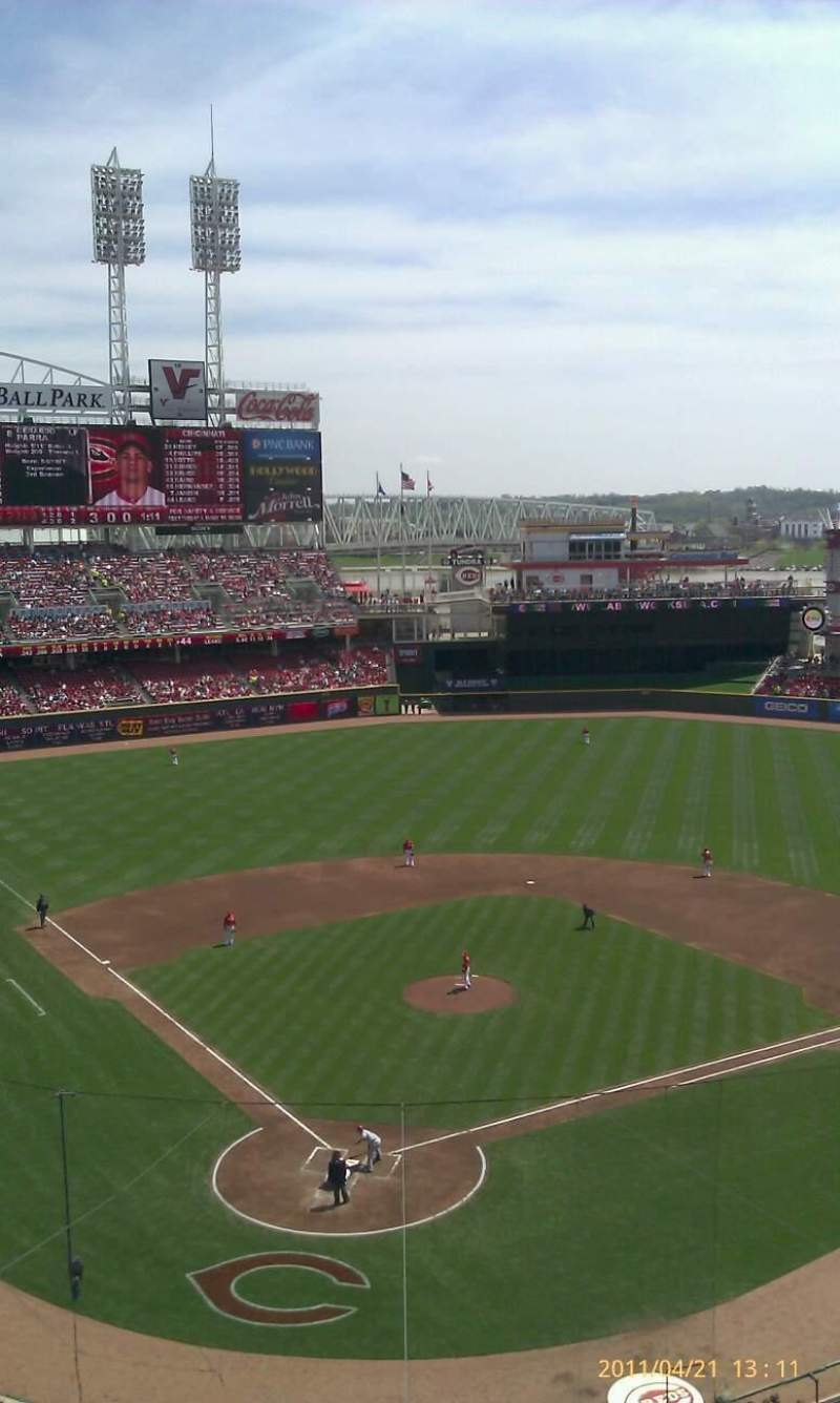 Seating view for Great American Ball Park Section 425 Row 11 Seat 8