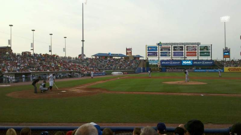 Seating view for Coca-Cola Park Section 108 Row g Seat 13