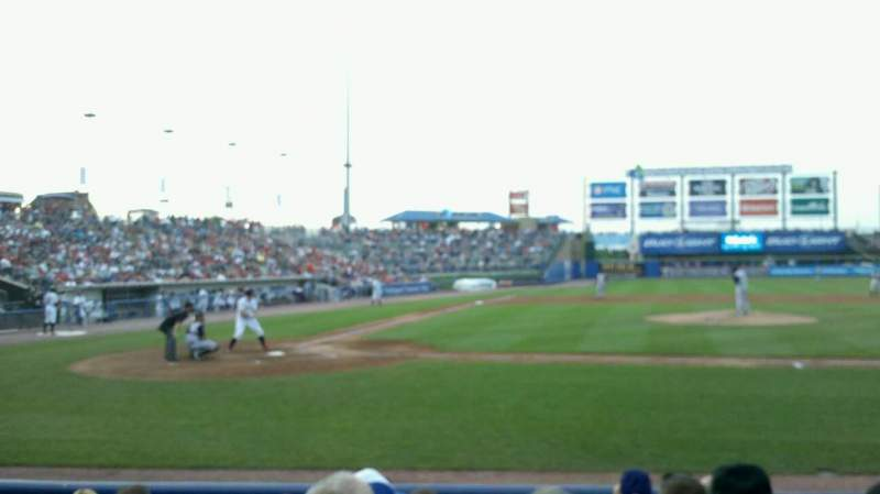 Seating view for Coca-Cola Park Section 108 Row G Seat 12