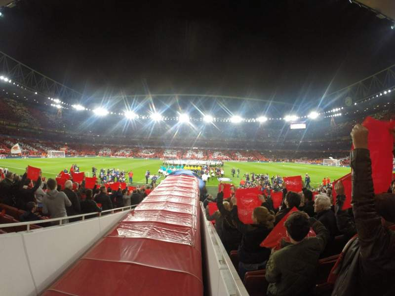 Seating view for Emirates Stadium Section 32 Row 17