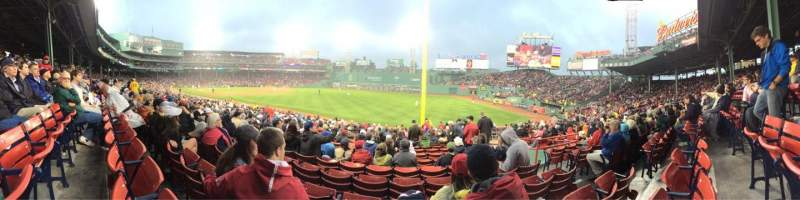 Seating view for Fenway Park Section Right Field Box 94 Row RR