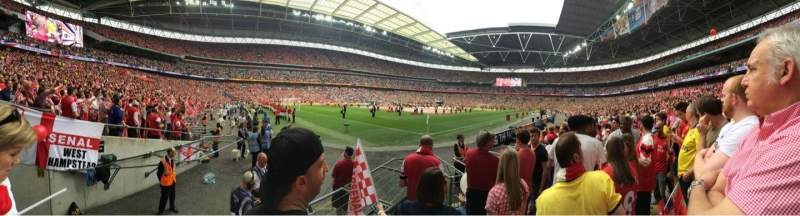 Seating view for Wembley Stadium Section 128 Row 6 Seat 182