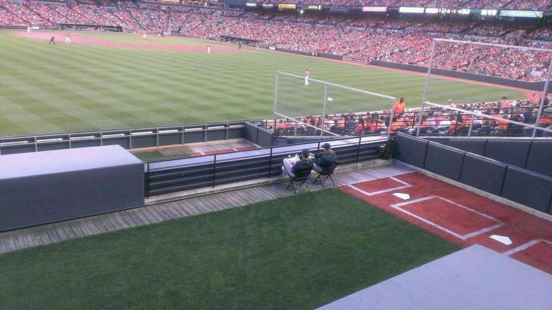 Seating view for Oriole Park at Camden Yards Section Standing Only