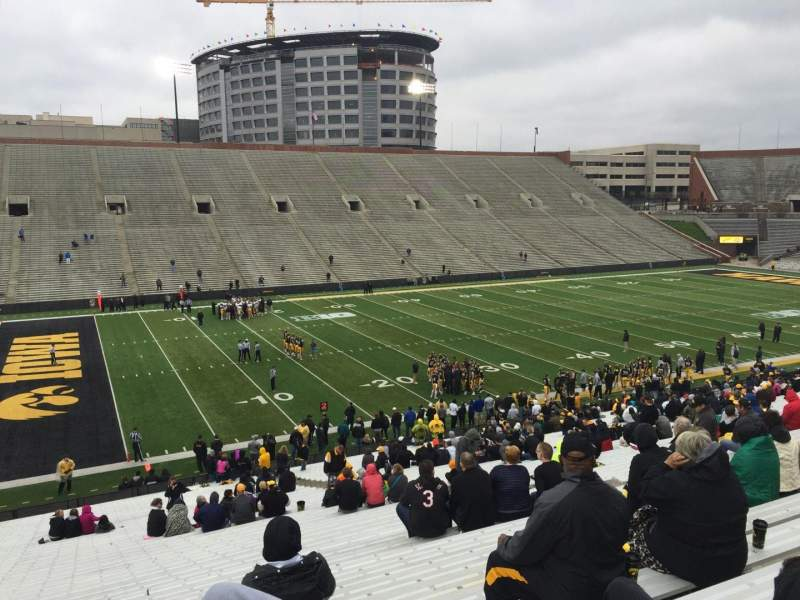Seating view for Kinnick Stadium Section 130 Row 47 Seat 10