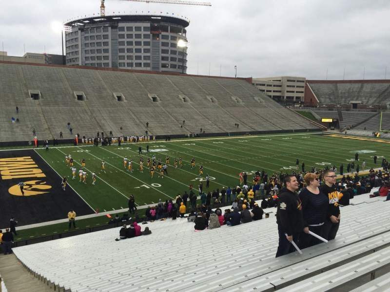 Seating view for Kinnick Stadium Section 131 Row 41 Seat 1