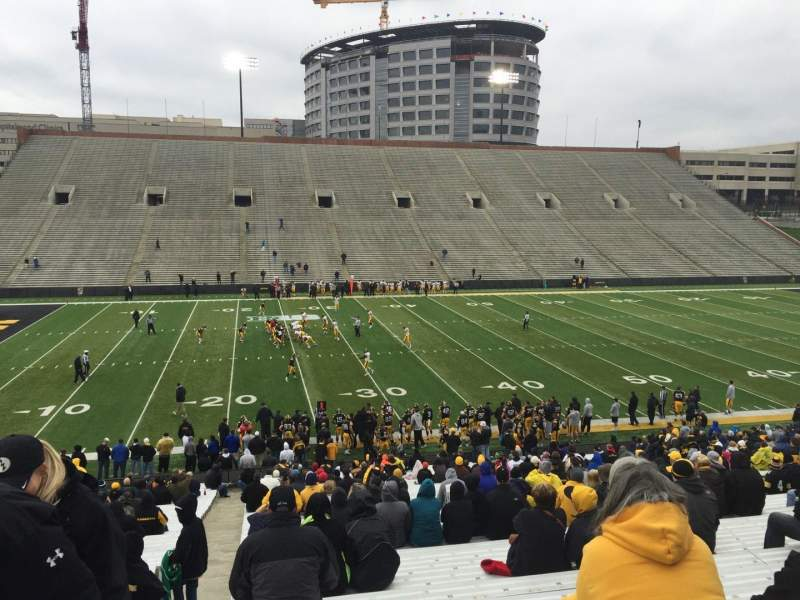 Seating view for Kinnick Stadium Section 128 Row 41 Seat 28