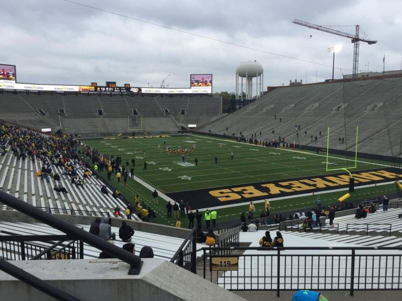 Seating view for Kinnick Stadium Section 220 Row 2 Seat 10