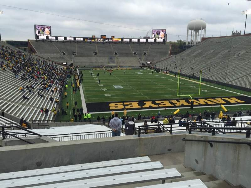 Seating view for Kinnick Stadium Section 218 Row 10 Seat 8