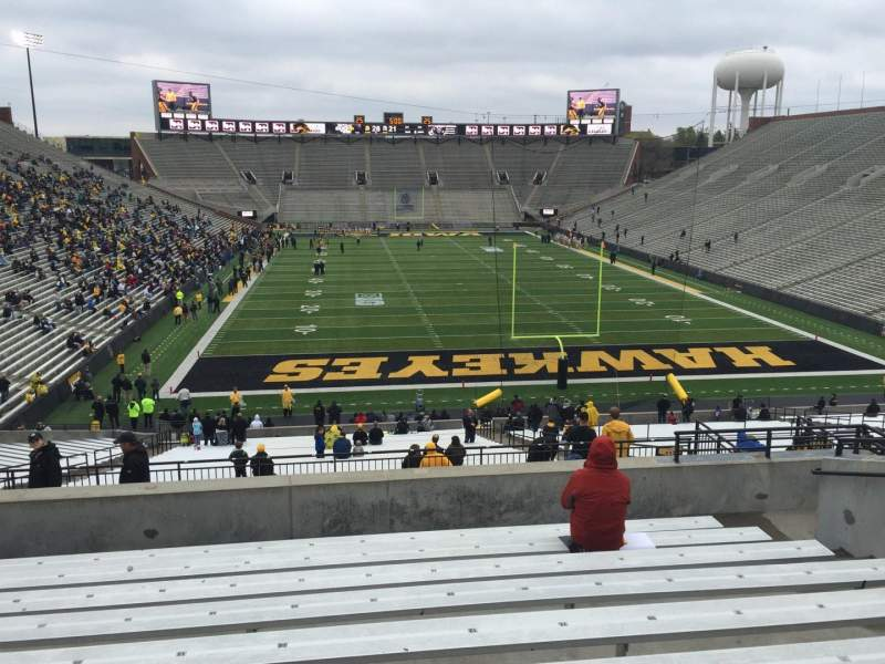Seating view for Kinnick Stadium Section 217 Row 10 Seat 12