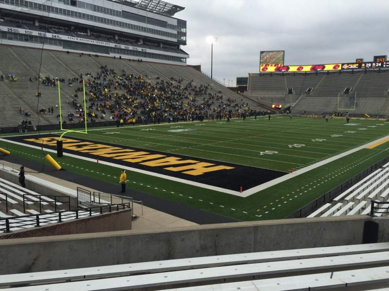 Seating view for Kinnick Stadium Section 111 Row 27 Seat 15
