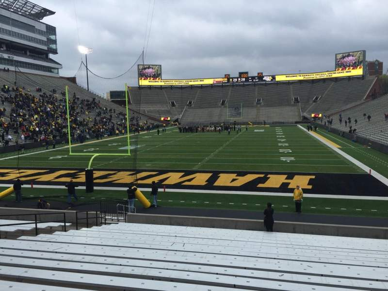 Seating view for Kinnick Stadium Section 115 Row 24 Seat 16