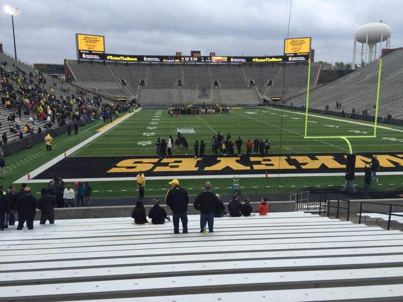 Seating view for Kinnick Stadium Section 117 Row 24 Seat 14