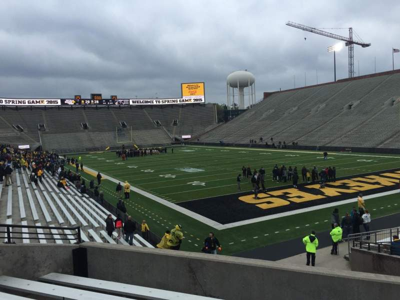 Seating view for Kinnick Stadium Section 121 Row 26 Seat 10