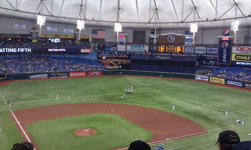 Seating view for Tropicana Field Section 306 Row g Seat 1