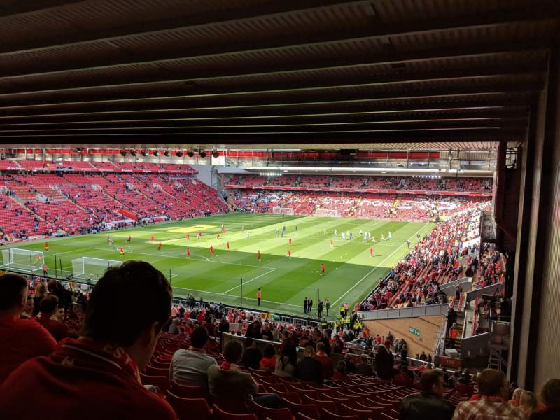 Seating view for Anfield Section 208 Row 61 Seat 4