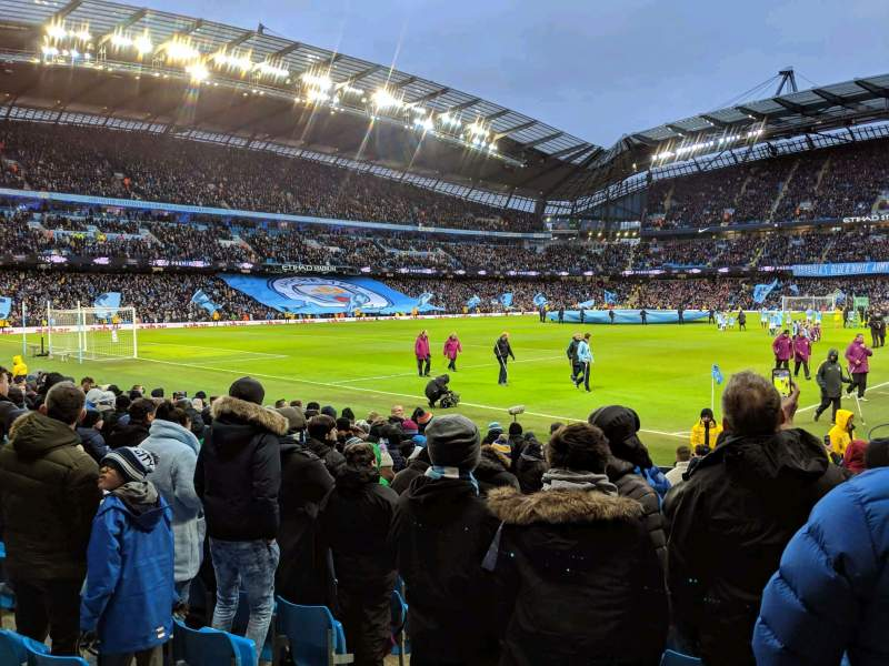 Seating view for Etihad Stadium (Manchester) Section 132 Row K Seat 885