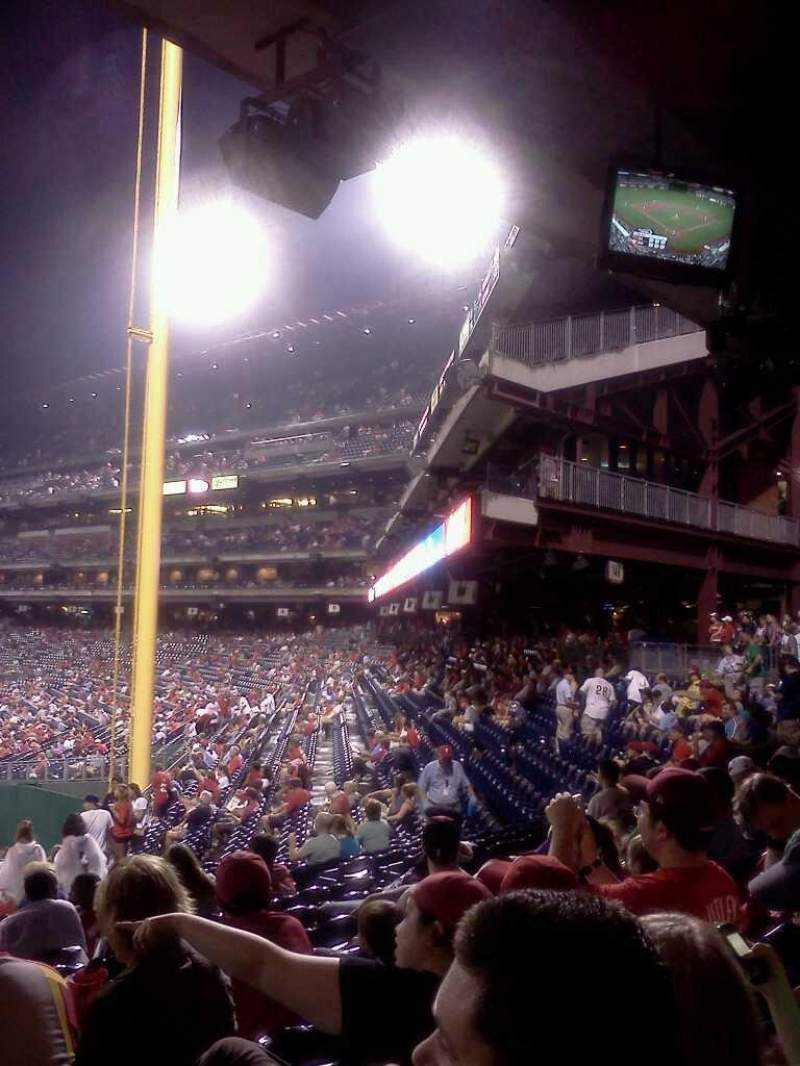 Seating view for Citizens Bank Park Section 142 Row 23 Seat 15