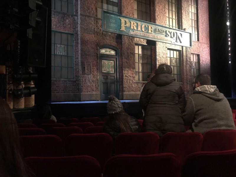 Seating view for Al Hirschfeld Theatre Section Orchestra L Row G Seat 11