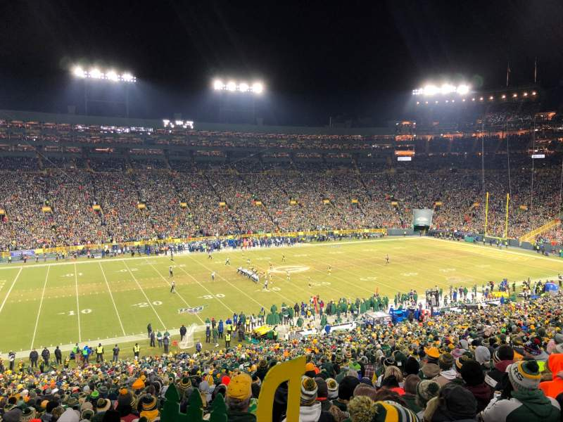 Seating view for Lambeau Field Section 114 Row 57 Seat 16