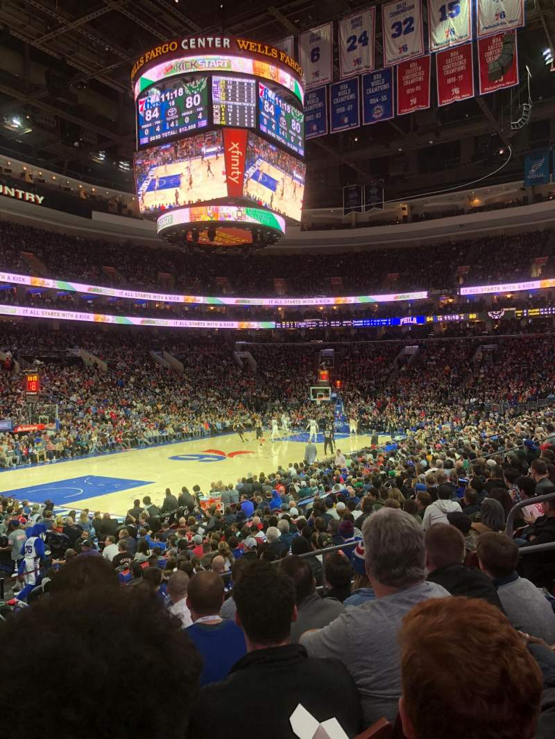 Seating view for Wells Fargo Center Section 122 Row 14 Seat 9