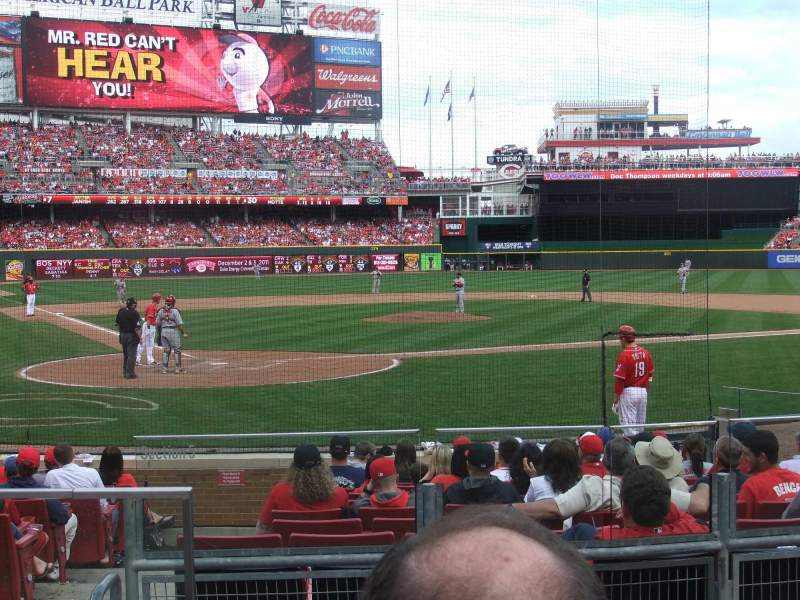 Seating view for Great American Ball Park Section 25 Row 2 Seat 8