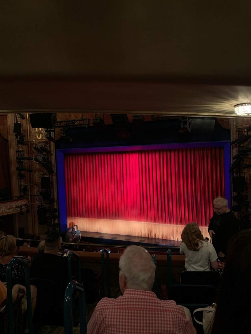 Seating view for Longacre Theatre Section Mezzanine R Row F Seat 3