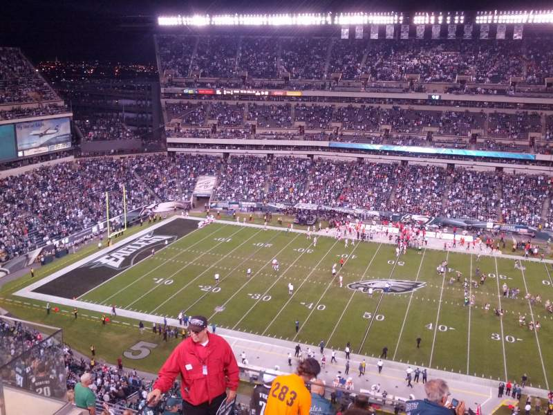 Seating view for Lincoln Financial Field Section 202 Row 11 Seat 26