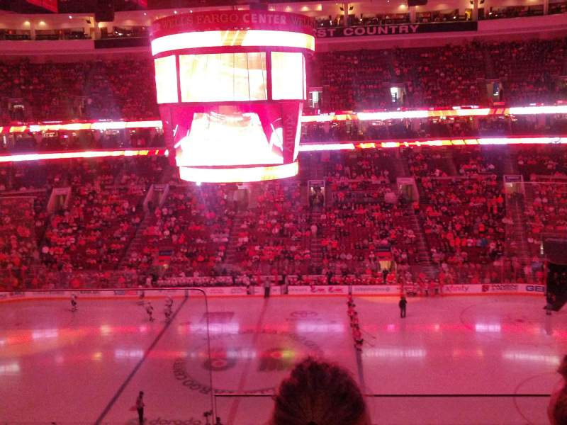 Seating view for Wells Fargo Center Section 201 Row 2