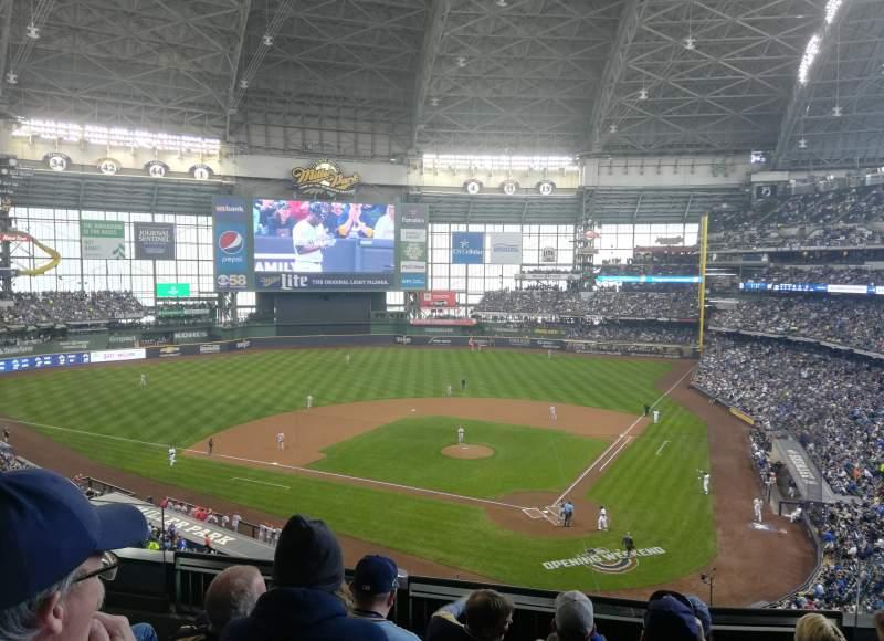 Seating view for Miller Park Section 333 Row 5 Seat 5