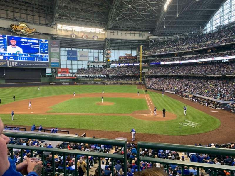 Seating view for Miller Park Section 222 Row 2 Seat 9