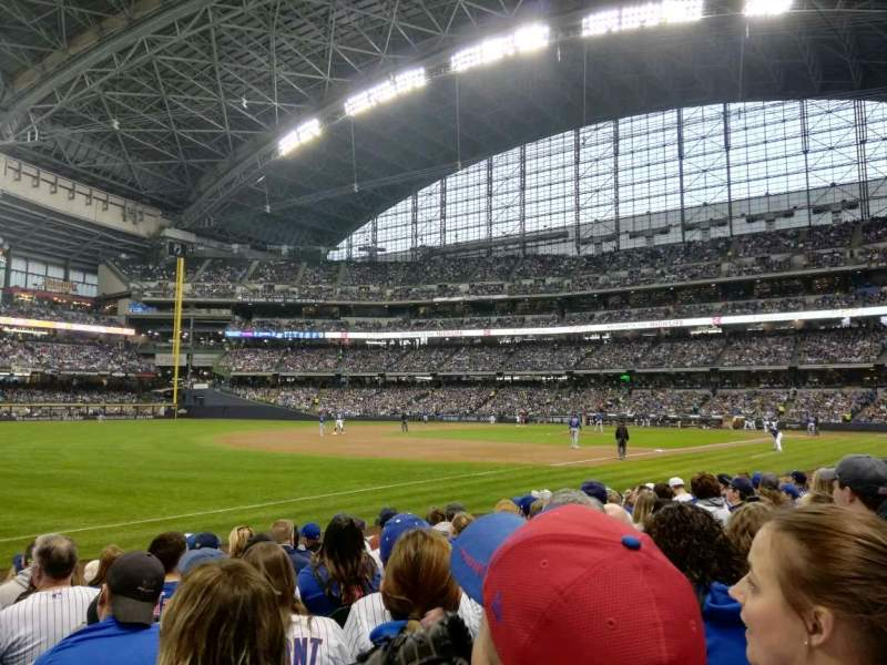 Seating view for Miller Park Section 126 Row 9 Seat 21