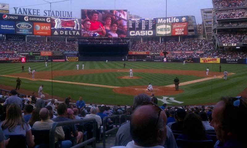 Seating view for Yankee Stadium Section 120b Row 23 Seat 14