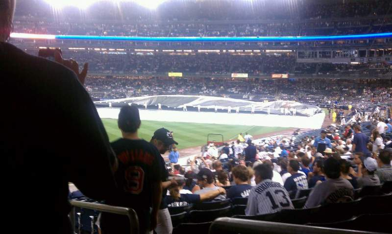 Seating view for Yankee Stadium Section 132 Row 26 Seat 1