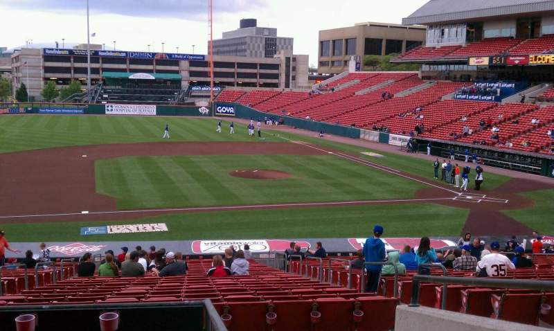 Seating view for Coca-Cola Field Section 113 Row ee Seat 1