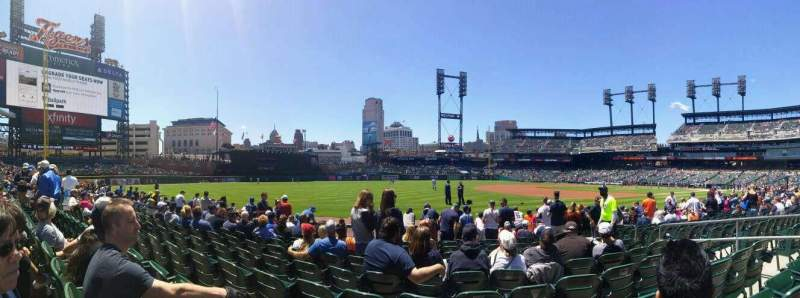 Seating view for Comerica Park Section 138 Row 11 Seat 7