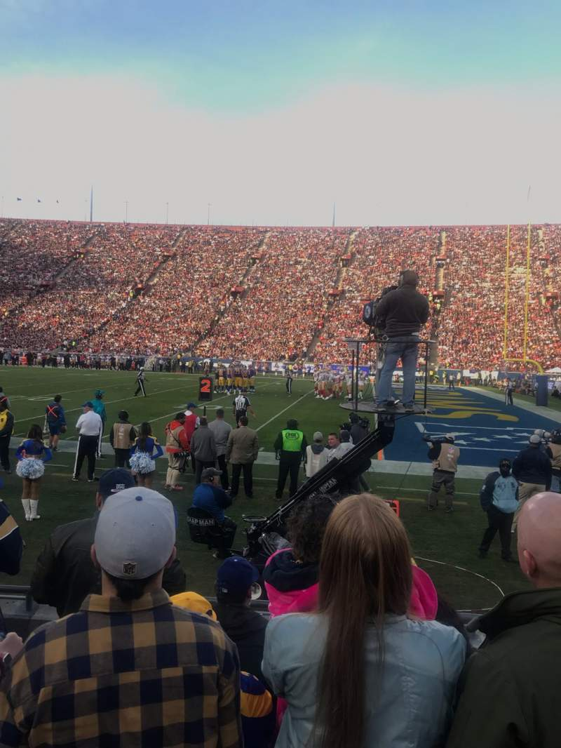 Seating view for Los Angeles Memorial Coliseum Section 5H Row 5 Seat 114