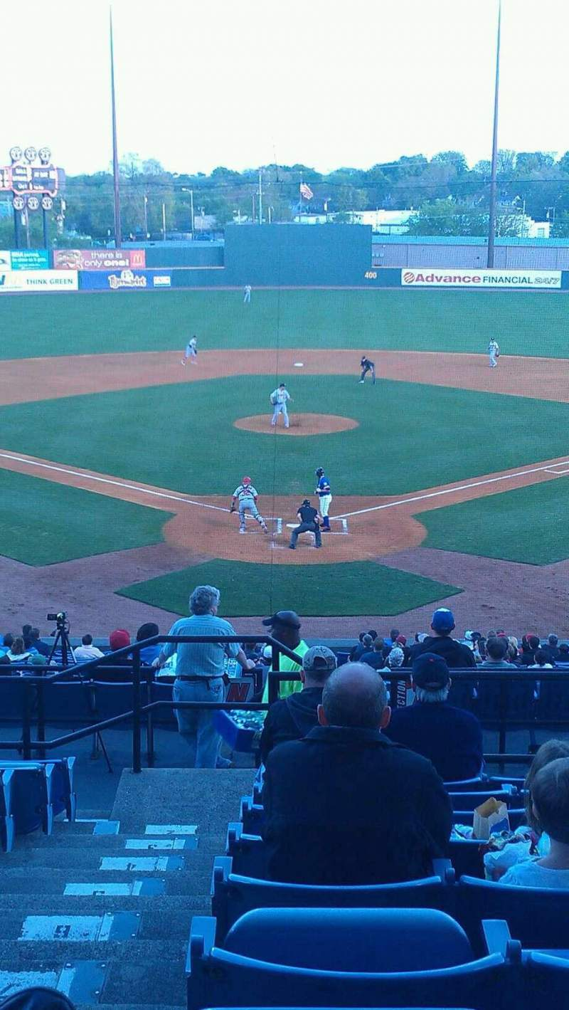 Seating view for Herschel Greer Stadium Section MM Row 11 Seat 1