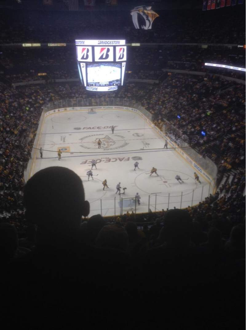 Seating view for Bridgestone Arena Section 317 Row M Seat 13