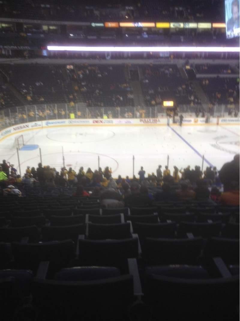 Seating view for Bridgestone Arena Section 104 Row M Seat 8