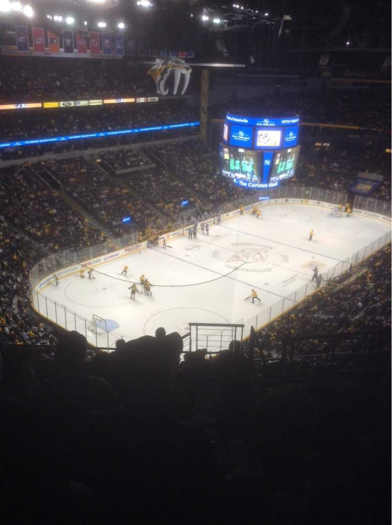 Seating view for Bridgestone Arena Section 304 Row N Seat 4