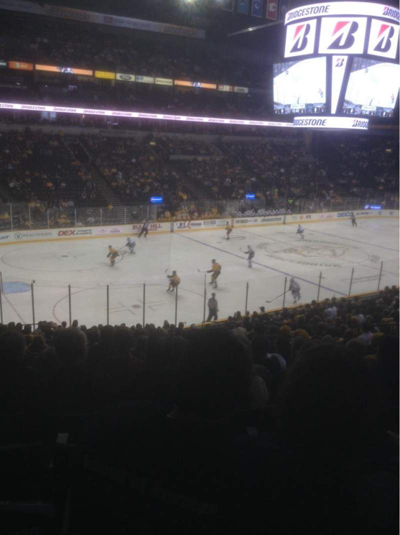 Seating view for Bridgestone Arena Section 103 Row P Seat 13