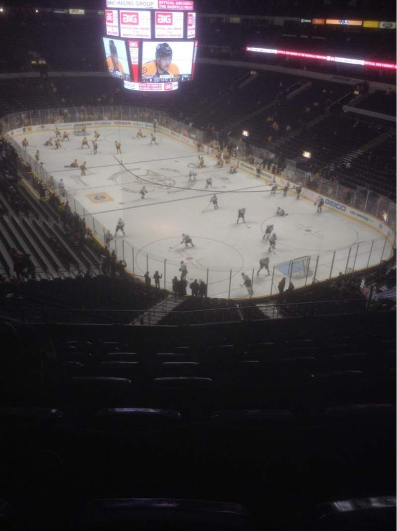 Seating view for Bridgestone Arena Section 315 Row K Seat 11