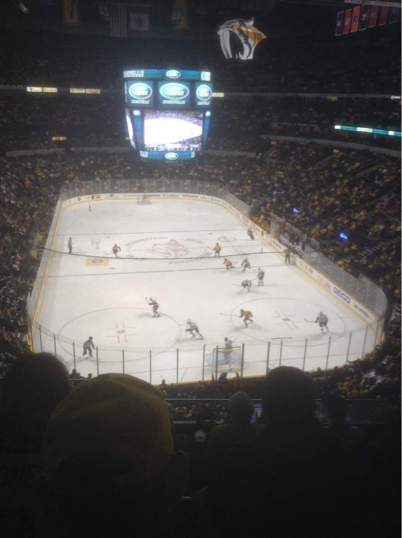 Seating view for Bridgestone Arena Section 317 Row G Seat 16