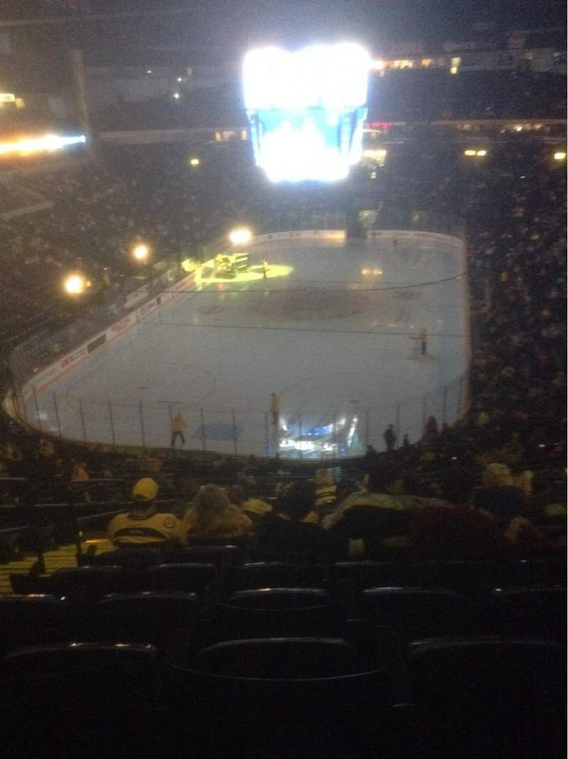 Seating view for Bridgestone Arena Section 202 Row K Seat 13