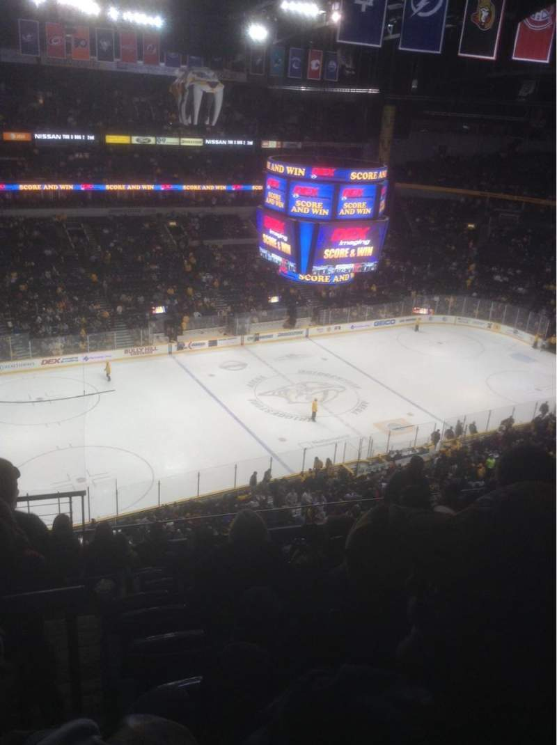 Seating view for Bridgestone Arena Section 307 Row J Seat 13