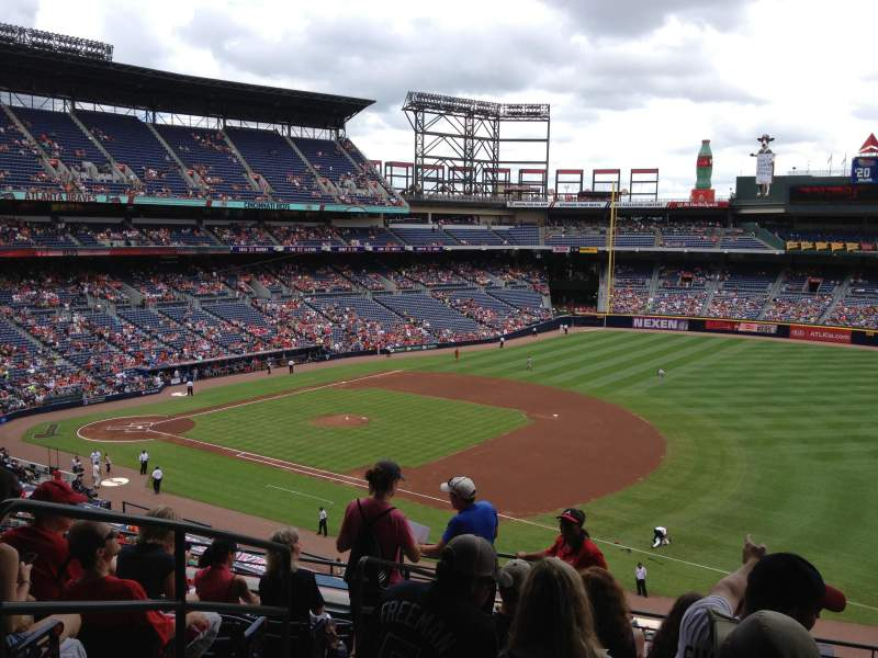 Seating view for Turner Field Section 317 Row 8 Seat 3