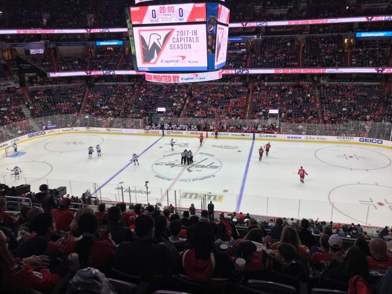 Seating view for Capital One Arena Section 216 Row K Seat 8
