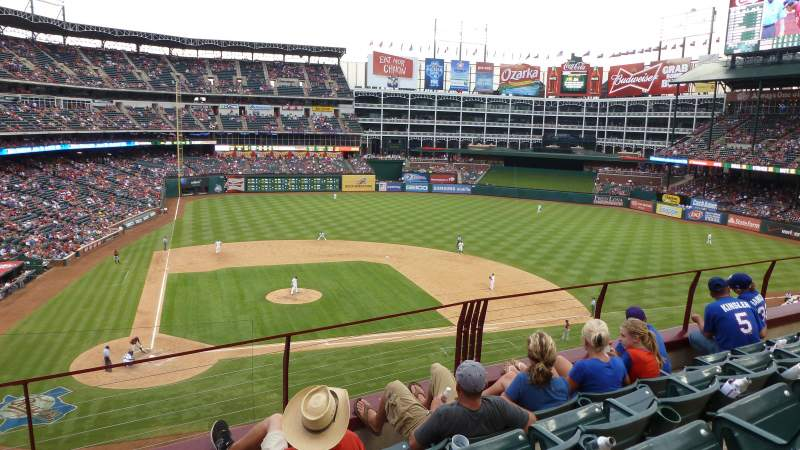 Seating view for Globe Life Park in Arlington Section 231 Row 2 Seat 8